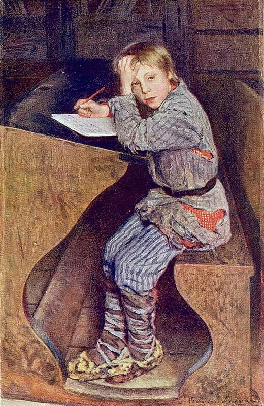 Сочинение. 1903. Холст, масло. 123х78,5. ГРМ - Богданов-Бельский Николай Петрович
