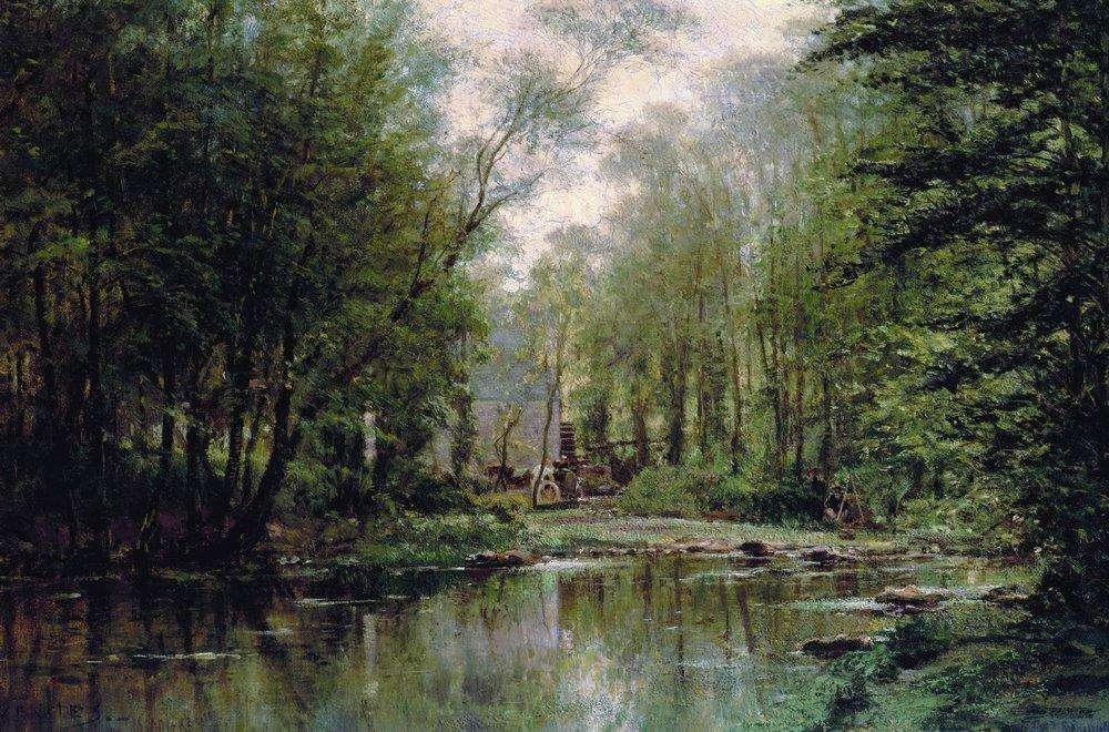 Лес в Вёле. Нормандия. 1871 - Боголюбов Алексей Петрович