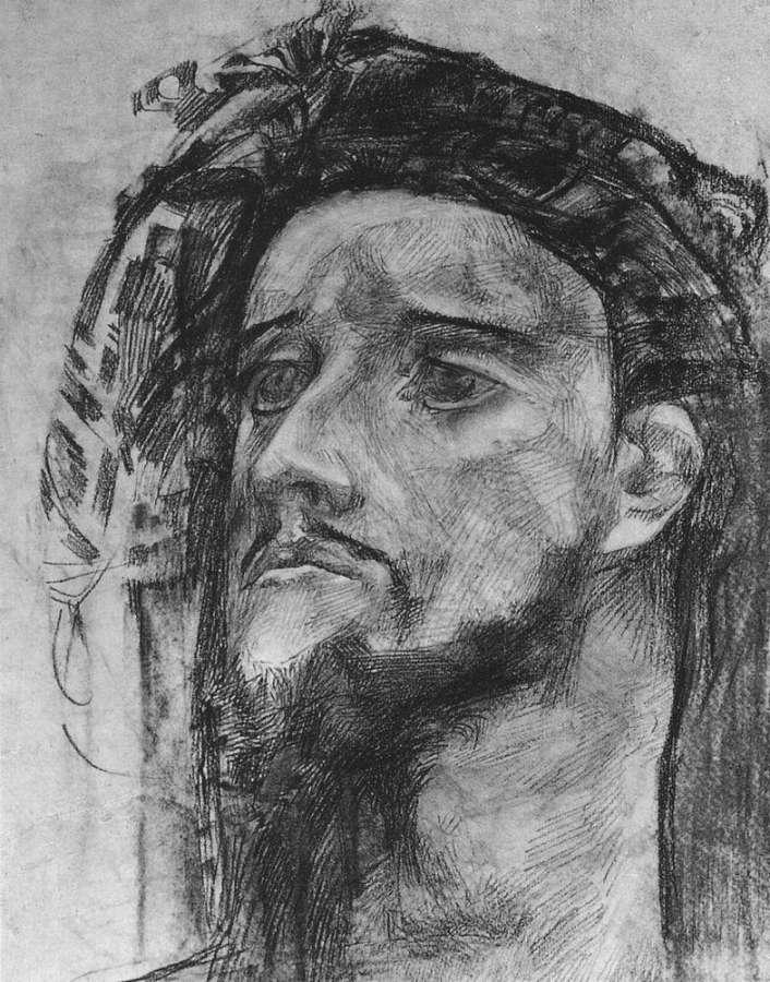 Голова пророка. 1904-1905 - Врубель Михаил