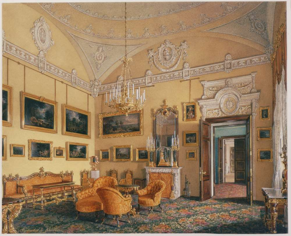Interiors.of.the.Winter.Palace.The.First.Reserved.Apartment.The.Drawing-Room.of.Duke.M.Leuchtenberg - Гау Эдуард Петрович