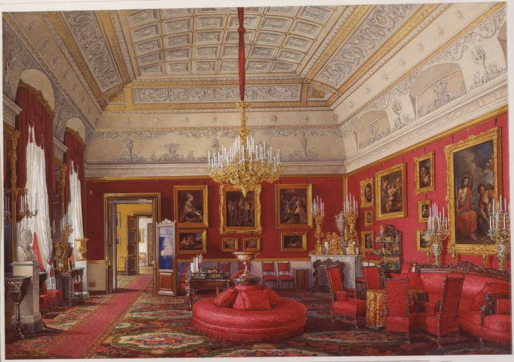 Interiors.of.the.Winter.Palace.The.First.Reserved.Apartment.The.Large.Study.of.Grand.Princess.Maria.Nikolayevna - Гау Эдуард Петрович