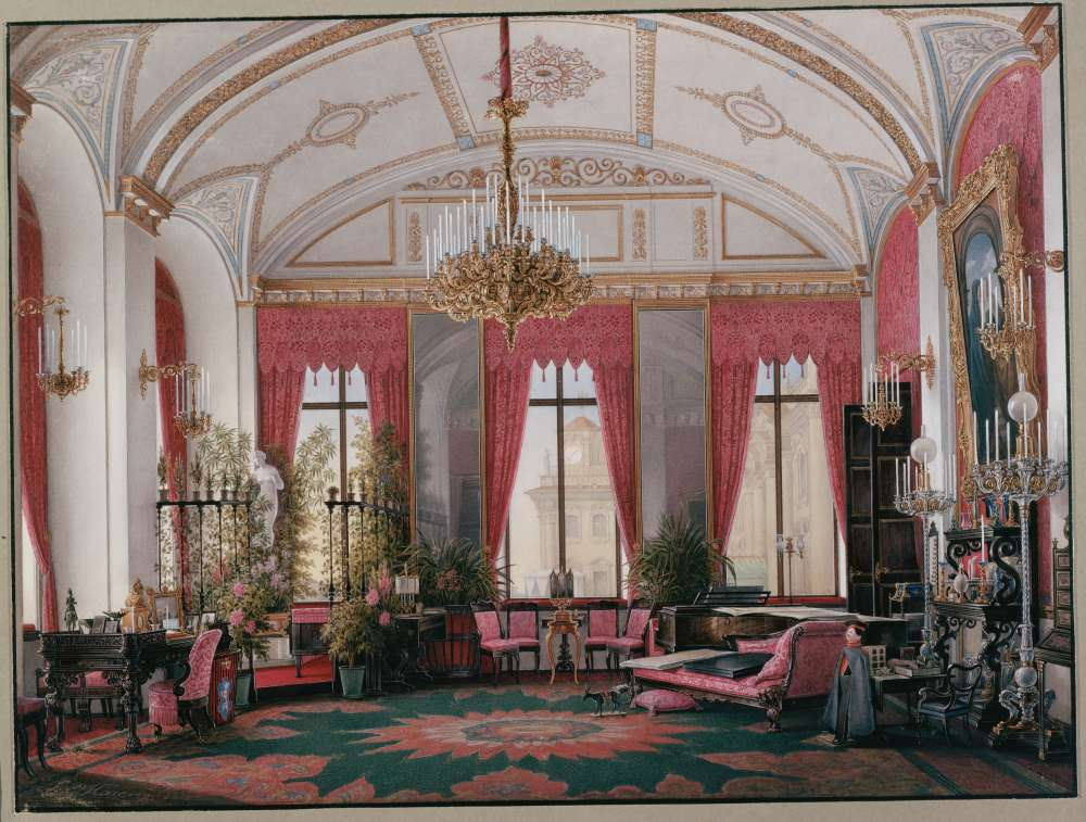 Interiors.of.the.Winter.Palace.The.Raspberry.Study.of.Empress.Maria.Alexandrovna - Гау Эдуард Петрович