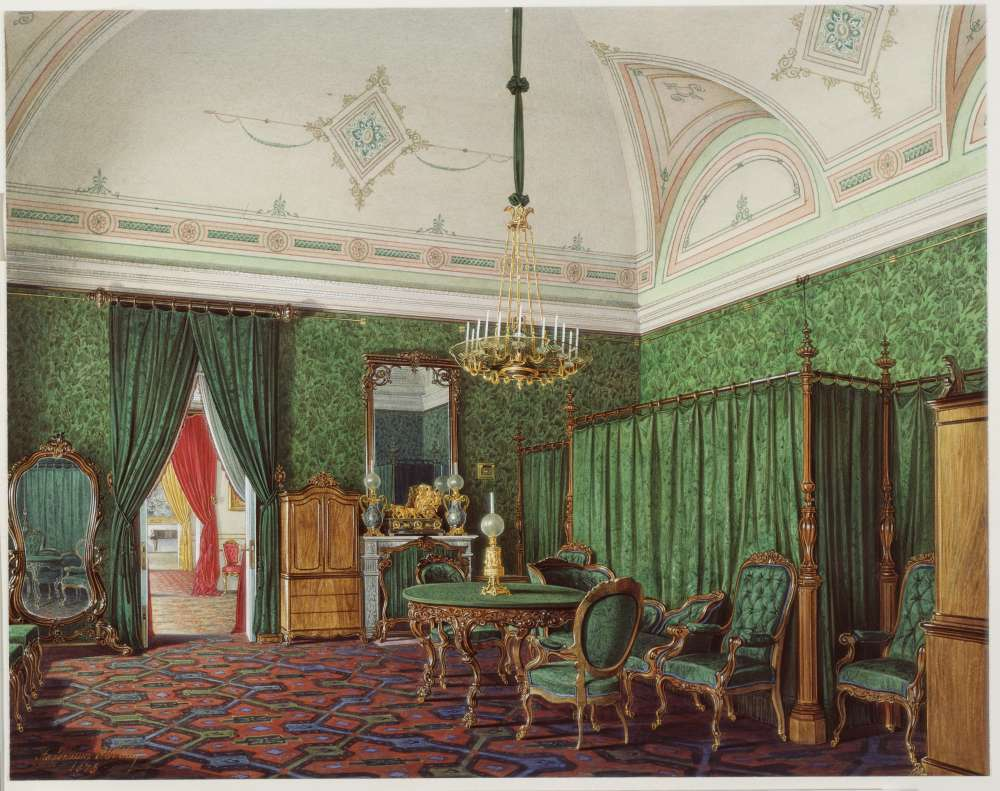 Interiors.of.the.Winter.Palace.The.Third.Reserved.Apartment.A.Bedroom - Гау Эдуард Петрович