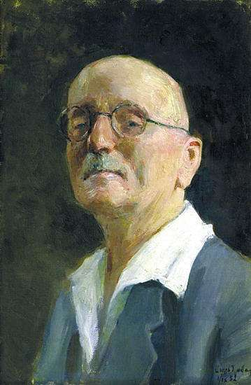 1952 Self-portrait. Canvas, oil. 67x50 Uzhgorod - Грабарь Игорь Эммануилович