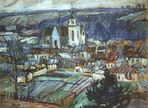 1908 Namur. France, 60x81,5 Private Collection, Moscow - Кончаловский Петр Петрович