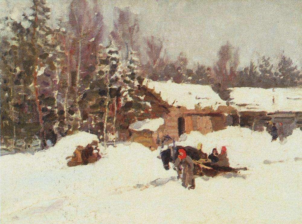 Зимний пейзаж. 1930-е - Коровин Константин Алексеевич