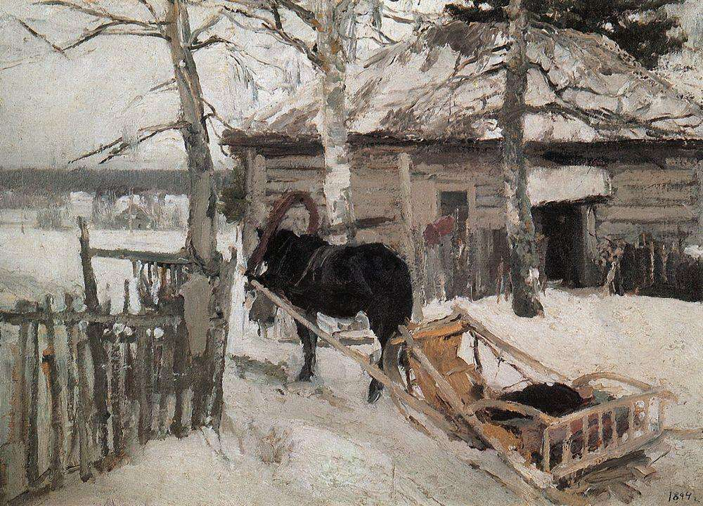 Зимой. 1894 - Коровин Константин Алексеевич