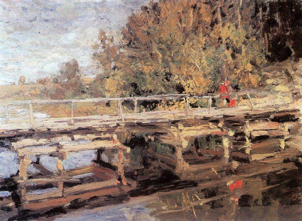 Осень. На мосту. 1910-е - Коровин Константин Алексеевич
