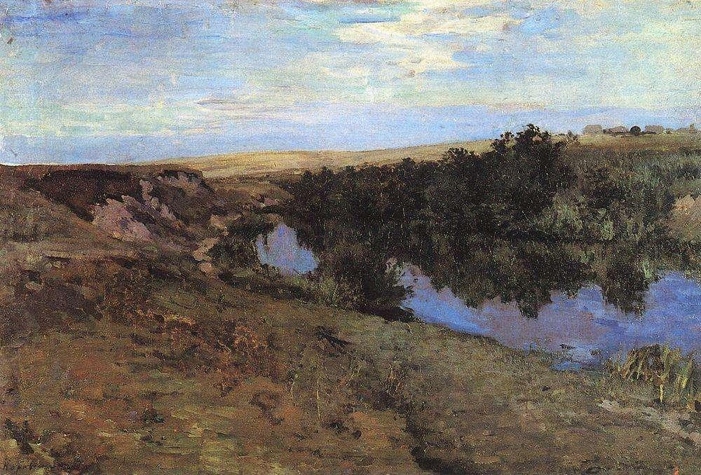 Коровин К. А., Речка в Меньшове. 1885