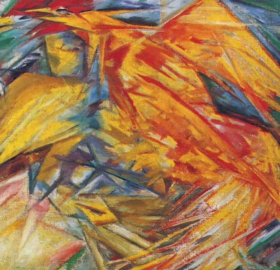 Петух и курица. 1912  - Ларионов Михаил Федорович