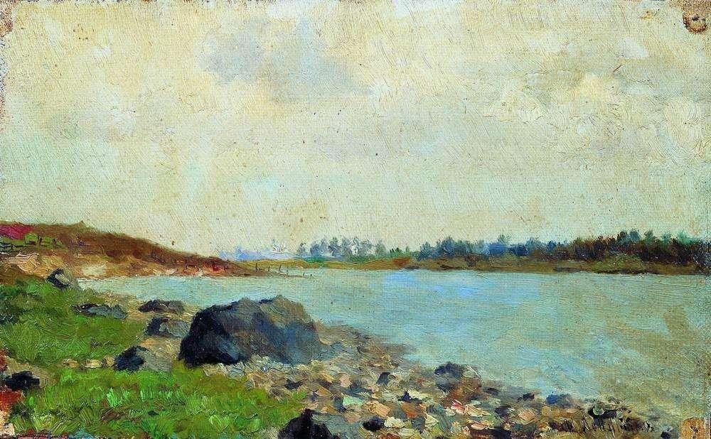 левитан лодка на реке