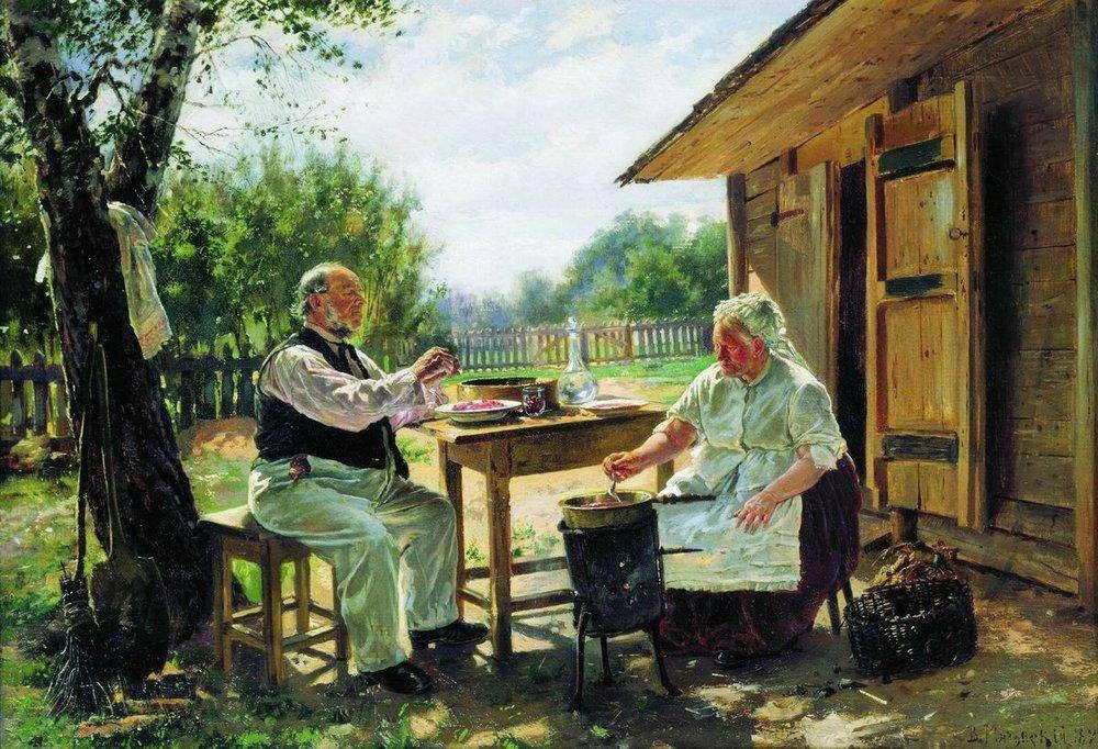 Варят варенье. 1876 - Маковский Владимир Егорович
