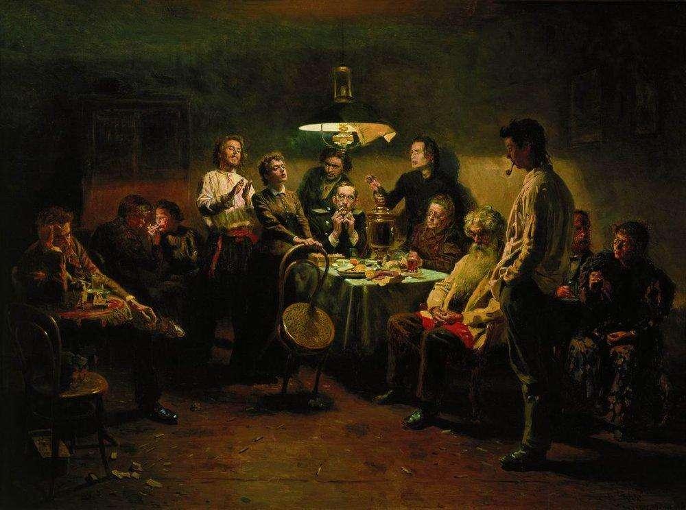 Вечеринка. 1875-1897. Маковский. В. Е.
