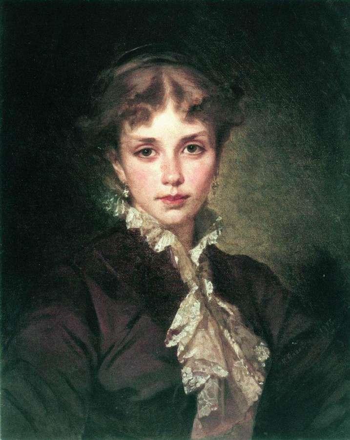 Женский портрет. 1878 - Маковский Константин Егорович