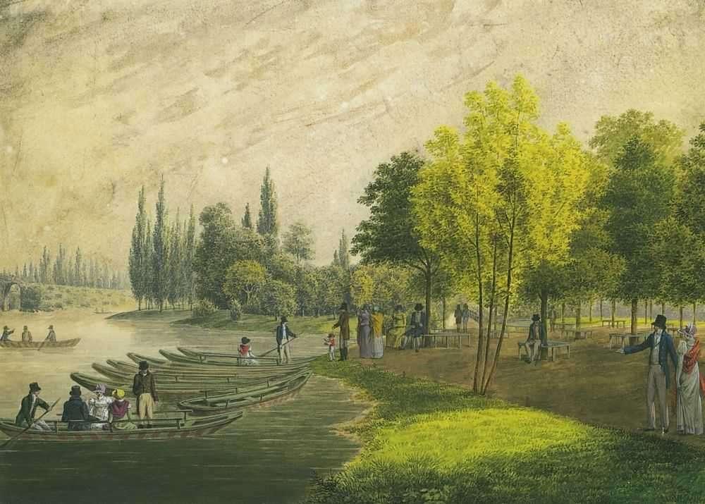 Гуляние в дворцовом парке близ Санкт-Петербурга. 1818  - Мартынов Андрей Ефимович