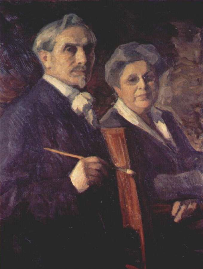 pasternak_double_portrait_of_the_artist_and_his_wife - Пастернак Леонид Осипович