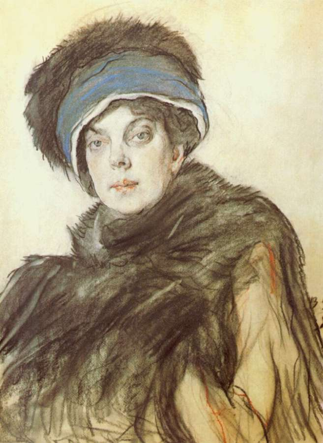 serov_princess_olga_orlova_colored-crayons-and-charcoal-on-paper_1911 - Серов Валентин Александрович