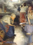 The laundresses. 1900 - Архипов