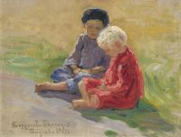 Playing Children,  1909 ЧС - Богданов-Бельский