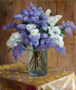 Still Life with Lilacs, 167.6х198.1 ЧС - Богданов-Бельский