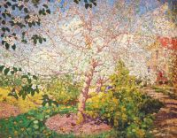 gerasimov,a_apple_tree_in_blossom_1914 - Герасимов
