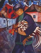 goncharova_boy_with_rooster_early-1910s - Гончарова
