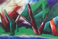 goncharova_forest_(red-green)_1913-14 - Гончарова