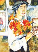 goncharova_self-portrait_with_yellow_lilies_1907 - Гончарова