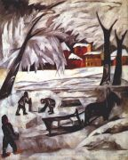 goncharova_the_ice_cutters_1911 - Гончарова