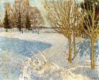 1901 Winter landscape. Oil on canvas. 57.8x71.1 - Грабарь