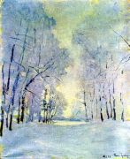1952 Hoar-Frost. Uzkoye. Oil on canvas. Abramtsevo - Грабарь