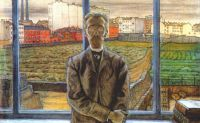dobuzhinsky_man_with_spectacles_(art_critic_and_poet_konstantin_sunnerberg)_1905-6 - Добужинский