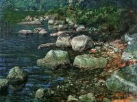 Ivanov Alexander Water and stones by a monastry Sun - Иванов