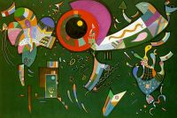 Kandinsky Around the Circle, 1940, oil and enamel on canvas, - Кандинский