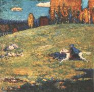 Kandinsky The blue rider, 1903, Ernst Buhrle Collection, Zur - Кандинский