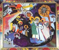 kandinsky_all_saints_(glass_painting)_1911 - Кандинский
