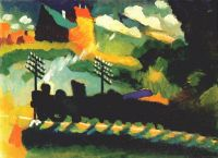 kandinsky_murnau_(view_with_railway_and_castle)_1909 - Кандинский
