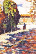kandinsky_park_of_st_cloud_with_horseman_1906 - Кандинский