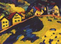 kandinsky_the_summer_landscape_1909 - Кандинский