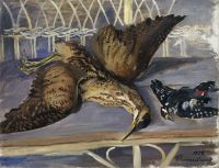 1934 Still Life with Bittern and Woodpecker, ЧС - Кончаловский