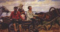 konchalovsky_returning_from_market_(novgorod)_1926 - Кончаловский