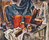 konchalovsky_trunk_and_earthenware_(heroic_still_life)_1919 - Кончаловский