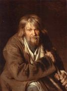 1872 Portrait of an Old Peasant (study) - Крамской