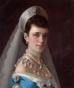 Kramskoi_Portrait_of_Empress_Maria_Fyodorovna_in_a_Head_Dress_Decorated_with_Pearls - Крамской