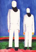 malevich_2_peasants_against_blue_background_1928-32 - Малевич
