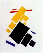 malevich_airplane_flying_(suprematist_painting)_1915 - Малевич