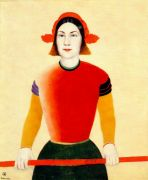 malevich_girl_with_red_pole_1932-3 - Малевич