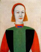 malevich_head_of_a_young_girl_of_today_1932 - Малевич