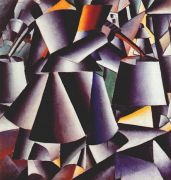 malevich_peasant_woman_carrying_buckets_1912-13 - Малевич