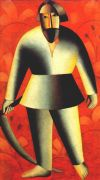 malevich_reaper_on_red_background_1912-13 - Малевич